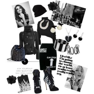 Cítím se dobře - styling - městský outfit převážně v černé.