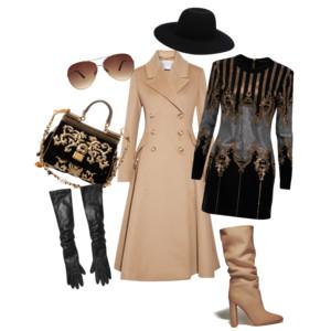 Luxusní béžová - styling v béžovo-černé kombinaci s nádechem luxusu