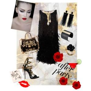 Polibek luxusu - styling v černo-zlaté